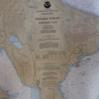 USA NOAA Nautical Chart ROSARIO STRAIT Northern Washington Orcas Lummi bay map