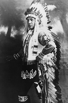 New 5x7 Native American Photo: Hiawatha #1 Chief, North American Indian - 1909