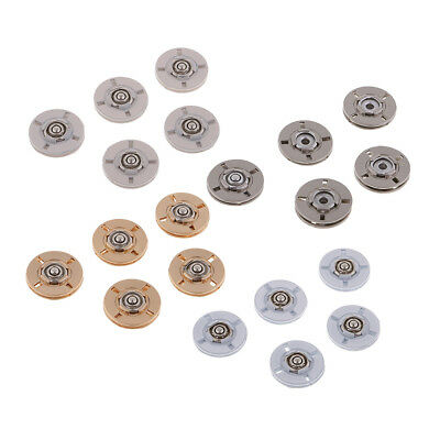 5 Set Alloy Invisible Snap Fasteners Popper Press Button for Clothes Jacket