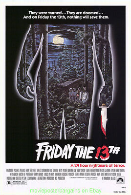 FRIDAY THE 13TH MOVIE POSTER 27x40 ORIGINAL  ONE SHEET 1980 HORROR - NOT A NSS