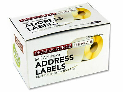 packs 250 Self Adhesive White address Postage Labels Roll Sticky Labels Sample