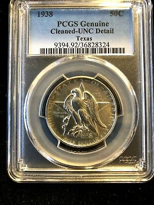 1938 PCGS UNC Texas Commemorative Half Dollar .99c NO RESERVE