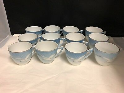 12  Bing And Grondahl- Denmark Seagull  Cups And 11 Saucers