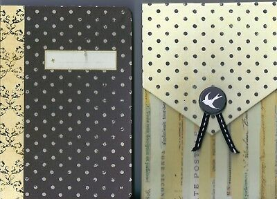 Mini Scrapbooking Journal Book - 10x15cms - with Slip Cover - 8 Pages