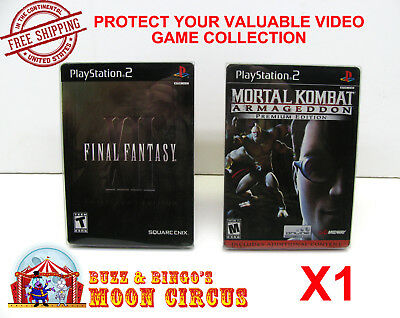 1X Sony Playstation Ps2 Dvd Steelbook Cib Game Clear Protective Box Protectors