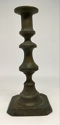 ~*~Original Antique BRASS Stacked Spool CANDLESTICK~*~