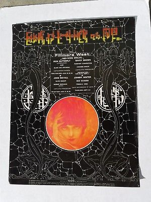 Vintage 1970 Bill Graham #247 Iron Butterfly Savoy Brown Fillmore Concert Poster