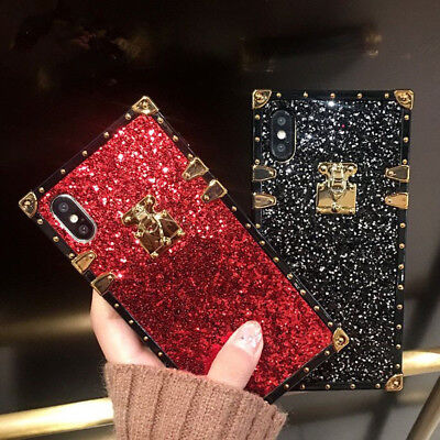 Fashion Bling Glitter Protective Case Soft Luxury Cover For iPhone XS MAX XR 6 8