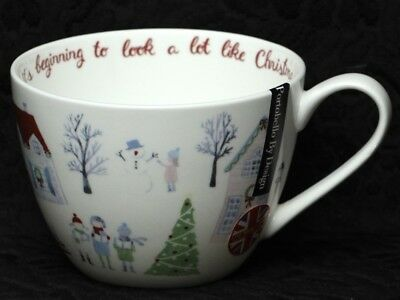 PORTOBELLO By DESIGN MERRY CHRISTMAS IT'S BEGINING TO... Bone China Jumbo Cup