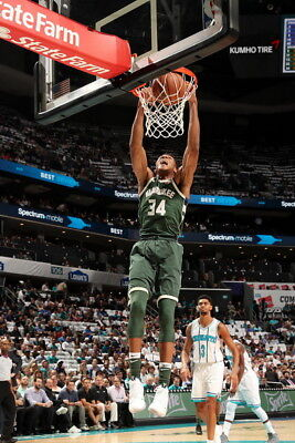 "038 Giannis Antetokounmpo MILWAUKEE BUCKS Basketball NBA Star 38/""x24/"" Poster"