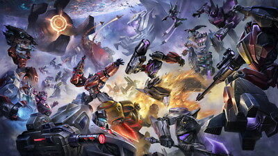 "002 Mighty Megatron in Transformers - Fight Hot Game 24""x14"" Poster"