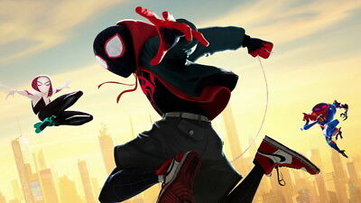 """Action 2018 USA Animation 57/""""x24/"""" Poster 030 Spider Man Into The Spider Verse"""