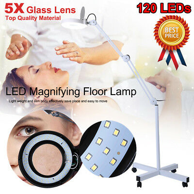 5X Magnifying Beauty Lamp Glass Lens 120 LED Illuminated Light Magnifier Stand