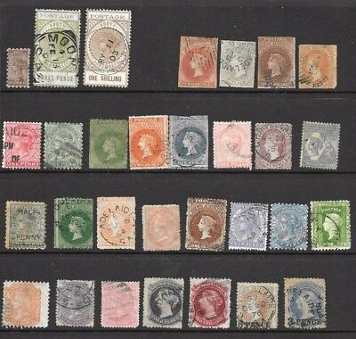 South Australian State Stamps  x 31 good used/ fine used 1/2d to 2/-