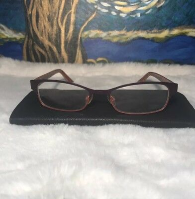 Lot Of 3 Soft Leather Eyeglass Case Slip In Dark Brown Reading Glass Pouch New