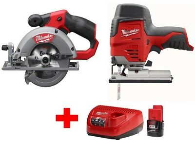 Milwaukee M12 12-Volt Lithium-Ion Cordless Jig Saw and 5-3/8 in. Circular Saw