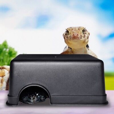 Medium//Large Reptiles Plastic Hide Box Cave For Lizards Snakes Rodents Spid F4P4
