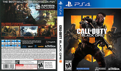 Call Of Duty Black Ops 4 (Playstation 4 Ps4) Replacement Case, No Game