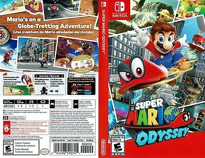 Super Mario Odyssey (Nintendo Switch) Replacement Case, No Game