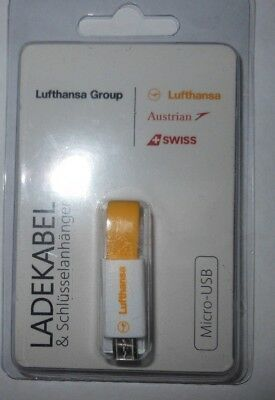 New  Lufthansa Smart Phone Charger Cable Micro USB