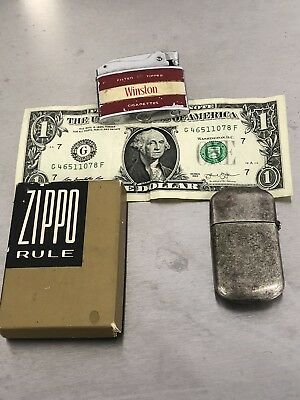 Zippo Rule Measure Tape And Camel Lighter Winston Cigarette Vintage