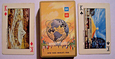 Original 1964 1965 New York World's Fair Playing Cards Complete Many Places