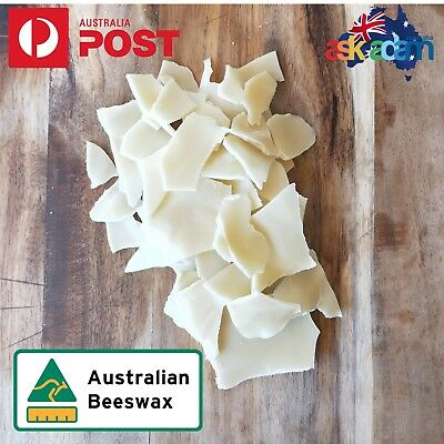 Aussie Beeswax Pellet Alternative GRATED / SLICED Candle Soap Food Wrap Bees Wax