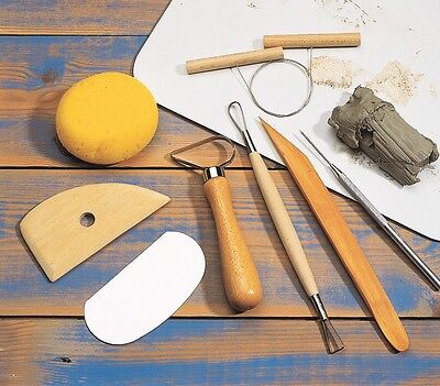 Pottery Tools Starter Set - 8 Basic Tools - Rrp £16.99