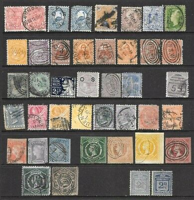 Australia/New South Wales State Stamps  x 42 good used/fine used  1/2d to 1/-