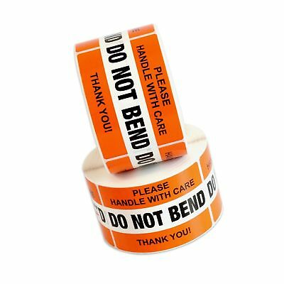"""DO NOT BEND Please Handle With Care Label Stickers 2"""" x 3"""" 1000 Labels [2 Rol..."""