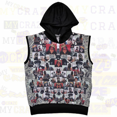 Brooklyn Crossing Notorious Big Biggie Small Hoodie Muscle Tank Top