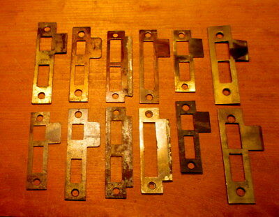 12 Old Door Lock Strike Plates Mortise Lock Strike Door Knob Hardware