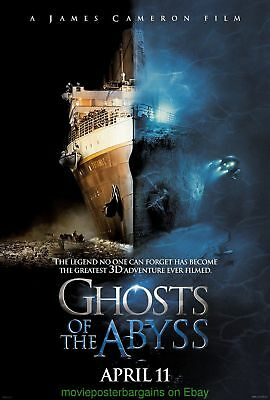 GHOSTS OF THE ABYSS MOVIE POSTER Orig.DS 27x40 JAMES CAMERON TITANIC DOCUMENTARY