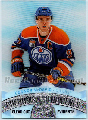 2017-18 TIM HORTONS UPPER DECK CLEAR CUT PHENOMS CONNOR MCDAVID Insert Card CCP1