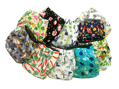 Re-usable Cloth Nappies Eco-Friendly with Bamboo Liner & 3 Layer Insert
