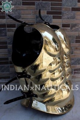 Vintage Spartan King-Solid Brass ~Medieval Armor Muscle Jacket Halloween Gift