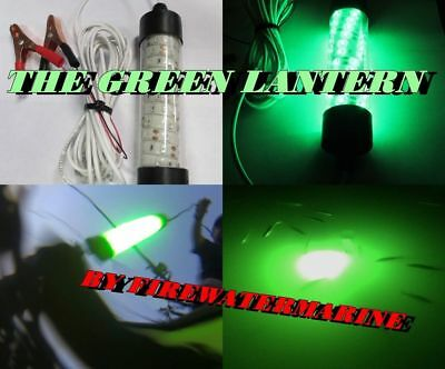 12V LED GREEN UNDERWATER SUBMERSIBLE NIGHT FISHING LIGHT crappie squid boat AGC1