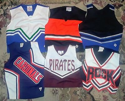 Lot Of (6) Excellent Condition Mixed Cheerleader Dance Tops