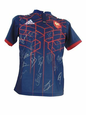 France Signed Rugby Shirt, Six Nations - Fully Autographed + *certificate*