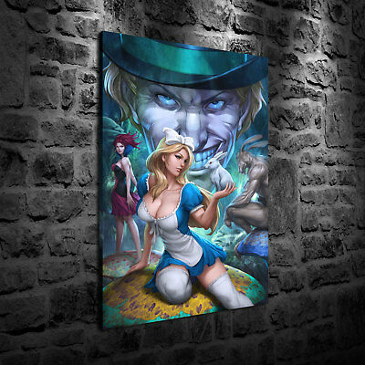 HD Print Oil Painting Home Decor Art on Canvas Alice in Wonderland 12x18inch
