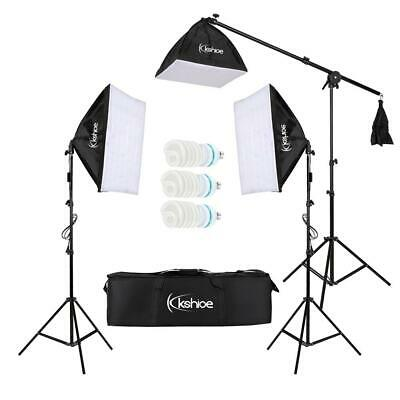 Photography Studio Continuous Lighting Softbox Arm Boom Stand Kit w/ Light Stand