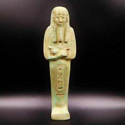 X-LARGE Antique Terracota Ushabti Statue Figure of Ancient Egyptian...RARE