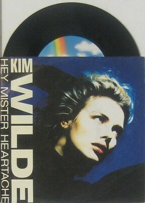 """Kim Wilde hey mister heartache / tell me where you are , 7"""" 45"""