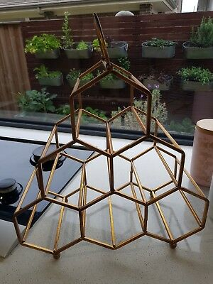 Hexagon 6 Bottle Wine Rack Holder Champagne Display Wedding Party Bar kitchen