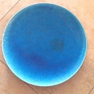 Large Rare Antique French Lachenal Egyptian Blue Pottery Charger Large Plate
