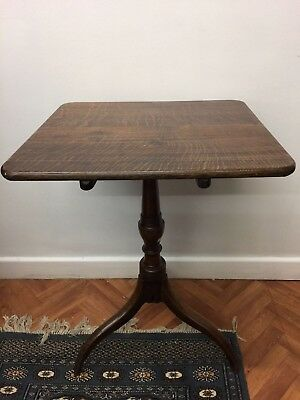 Antique Early Victorian Tripod Tilt Top Side Occasional Table Furniture