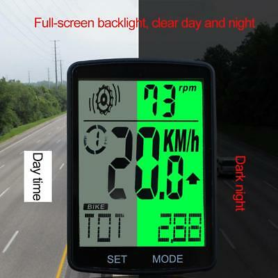 Cycling Bicycle Bike Computer Cadence Stopwatch HeartRate Monitor LCD Backlight