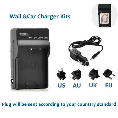 NP-BN1 Battery Charger Home&car for Sony CyberShot DSC-W350 W520 W570 WX5