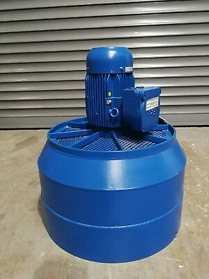 Large Industrial Fan Blower Unit 1.5Kw 3 Phase Flameproof Motor 620mm Dia Outlet