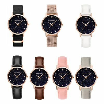 Waterproof Quartz Watch Creative Personalized Starry Glitter Dial Women Watch RP